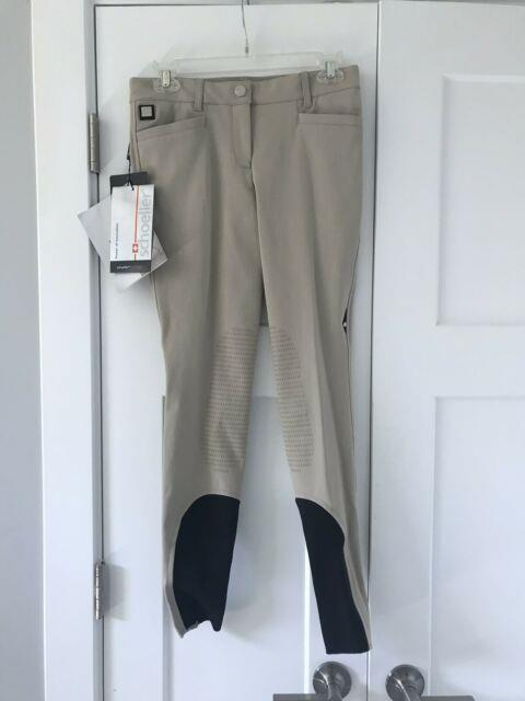 $375 Nwt Equiline Ash Breeches Beige Ladies Equestrian Riding Pants 42 Us 24/26