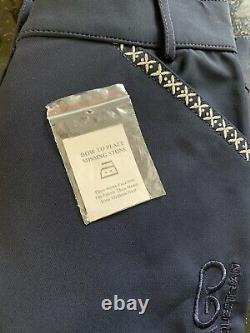 CATAGO Emily Silicone Full Seat Breech Navy Size 26 Bling