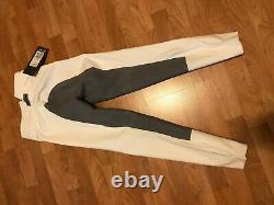 Cavallo Chagall Full Seat Womens Pants Riding Breeches -White with grey seat