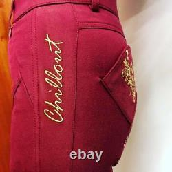 Chillout Horsewear Swanky Full Seat Breeches, Burgundy