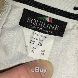Equiline Ash Breeches Beige Ladies Equestrian Riding Pants 42 Us 24/26