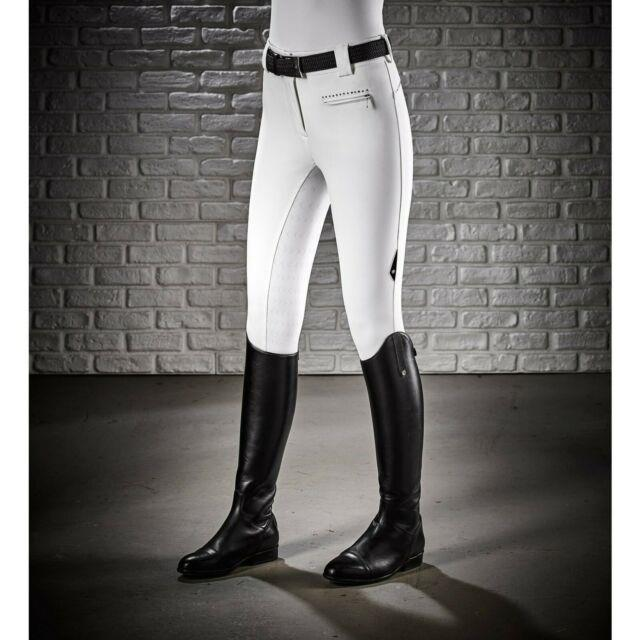 Equiline Ladies Cecile Full Seat Breech White Size Eu 36/it 40
