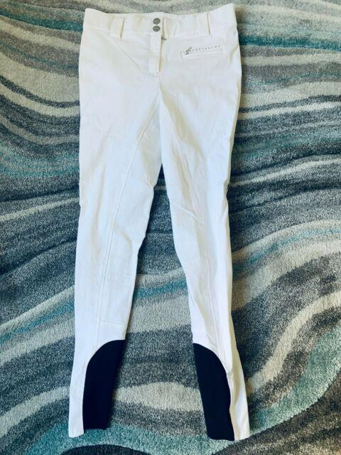 Equiline Ladies Cecile Full Seat Breech White Size Eu 38/it 42/us 28