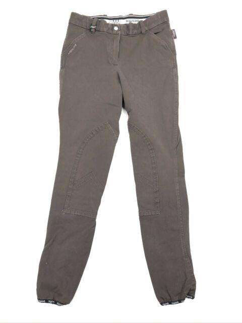 Equiline Womens Full Seat Breeches Stretch Brown Italy Size 46