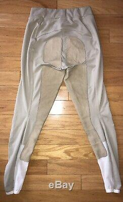 FITS Full Seat Deerskin Leather Pull On Breeches Khaki Medium Excellent