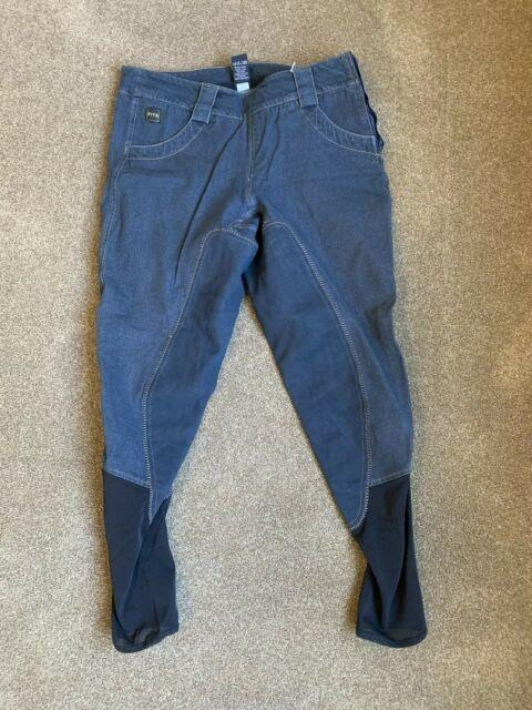 Fits Full Seat Breeches Pre-0wned Size L Side Zip Jeans Free Us Ship
