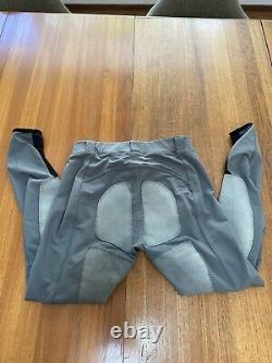 FITS Leather Deerskin Full Seat Breeches Gray Large