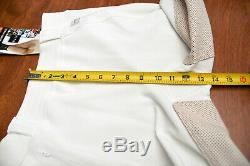 FITS, New, full seat deerskin breeches, white, large, MSRP $279