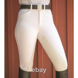 FITS PerforMAX Front Zip Full Seat Breech WHITE\XSMALL
