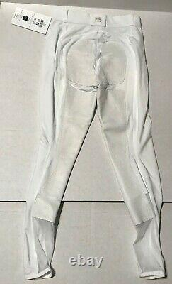 FITS Performax breeches white full leather seat dressage Large & Wunderbreeches