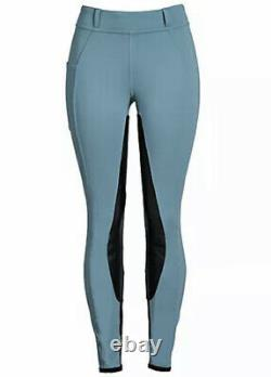 FITS Riding FITS PerforMAX Pull-On Full Seat Breech Womens size Small Blue Storm