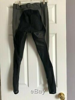 FITS original zip front leather full seat breeches Large Dark Gray
