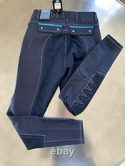 Full-Seat Breeches Ariat Pro Olympia Acclaim Blue Navy 26 Long MSRP $229.95
