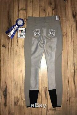 Goode Rider Perfect Fit, Full Seat Breeches, 24L, Graphite, NWT, Retail $189