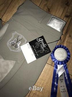 Goode Rider Perfect Fit, Full Seat Breeches, 36L, Graphite, NWT, Retail $189