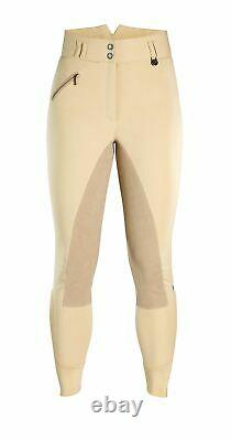 Hartpury Ladies Riding Breeches Women High Waist Full Synthetic Suede Seat Horse