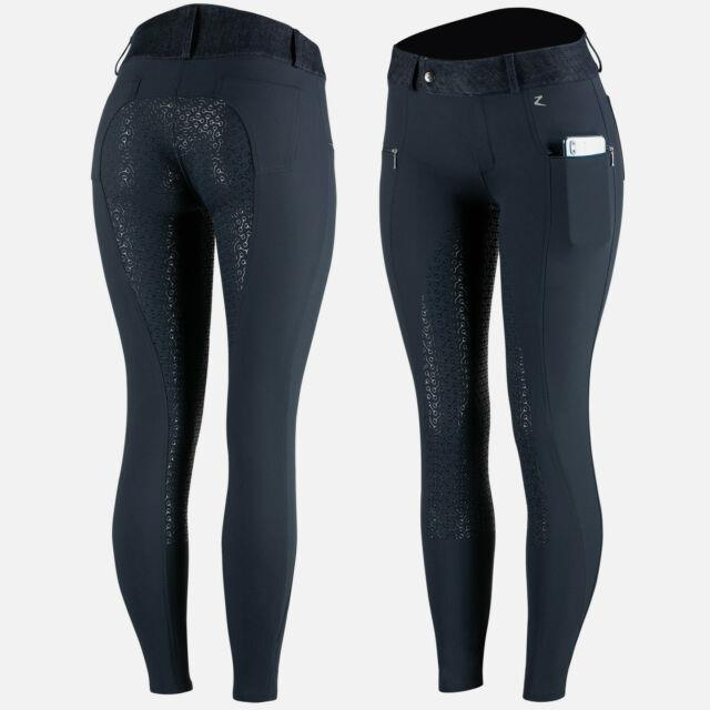 Horze Abrielle Women's Silicone Full Seat Breeches With Phone Pocket