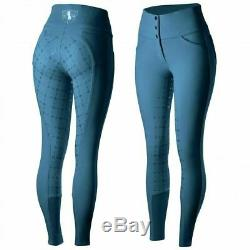 Horze Desiree Women's Silicone Full Seat Riding Breeches with High Waist