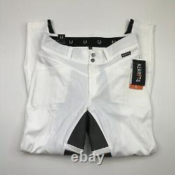 KERRITS CROSSOVER 2 FULL SEAT BREECHES Large White Riding Pants Equestrian