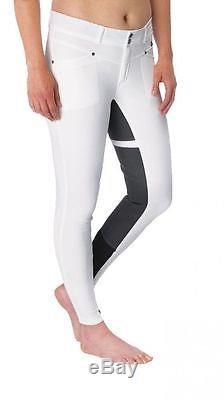 Kerrits Cross Over Full Seat Riding Breeches Ladies WHITE Different Sizes