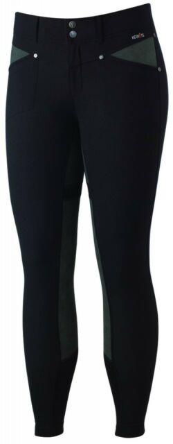 Kerrits Crossover Full Seat Breeches Ladies Black Different Sizes