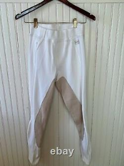 LIGHTLY USED FITS Women's PerforMAX White Full Seat Ribbed Breeches Size M