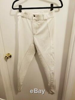 Large White FITS Performax Full Seat Show Breeches