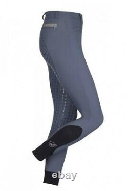 Le Mieux Dynamique Full Seat Ice Grey Breeches Size 12