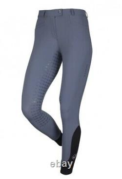 Le Mieux Dynamique Full Seat Ice Grey Breeches Size 14