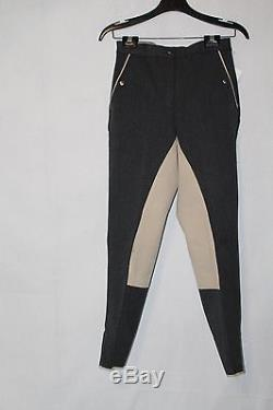 Loesdau Women's Black-Forest Charcoal/Beige Full Seat Breeches Size 26R