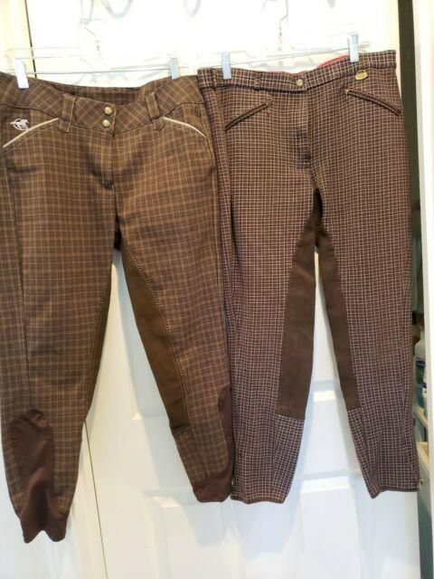 Lot Of 5 Pairs Ladies Full Seat Breeches Size 34r