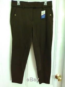 NEW Ariat All Circuit Full Seat Breeches in Bark withBlack Trim 30R #451548