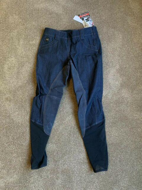 New Fits Full Seat Breeches Size L Side Zip Jeans Free Us Ship