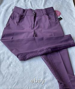 NEW Romfh Sarafina Bling Silicone Full Seat Dressage Breeches size 28 Stunning