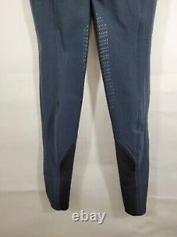 NWT Equiline Donna Grip Ginocchio breeches NAVY Blue pants IT 36 US 24 25 waist