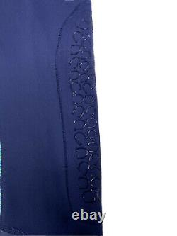 Noble Balance Womens Space Dye Horse Riding Tights Breeches Tahoe Blue Sz Large