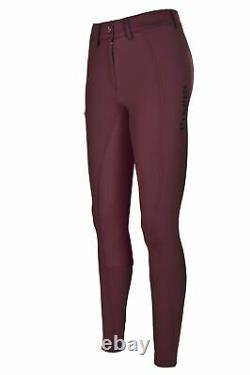 PIKEUR Ine Grip Full Seat Breeches 28L NWT Bordeaux New Generation Silicone