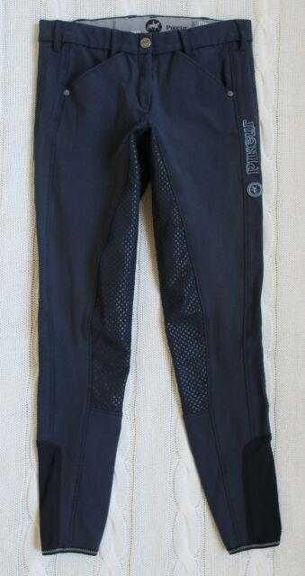 Pikeur Sally Slim Grip Navy Blue Breeches Full Seat Equestrian, Size Us 26