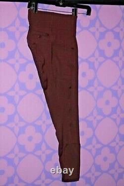 PS of SWEDEN PSOS MATHILDA Riding Tights Full Seat Breeches Bordeaux 36 WINE