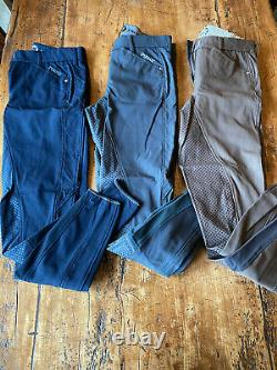Pikeur Annina grip full seat breeches 28L lot of 3 pre-owned VG condition