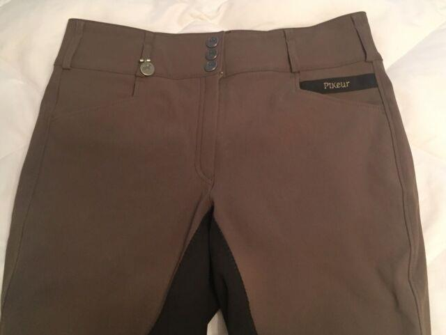 Pikeur Candela Full Seat Breeches Sz 34l Chocolate Brown