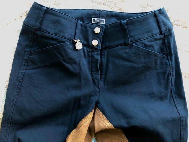 Pikeur Cindy Full Seat Breeches Black With Tan Full Seat Size 26 Used2x