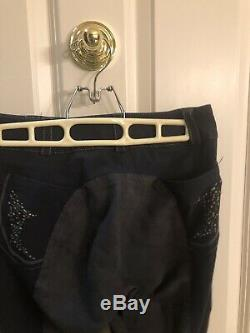 Pikeur Full Seat Breeches 26L Navy Blue Graciela Style