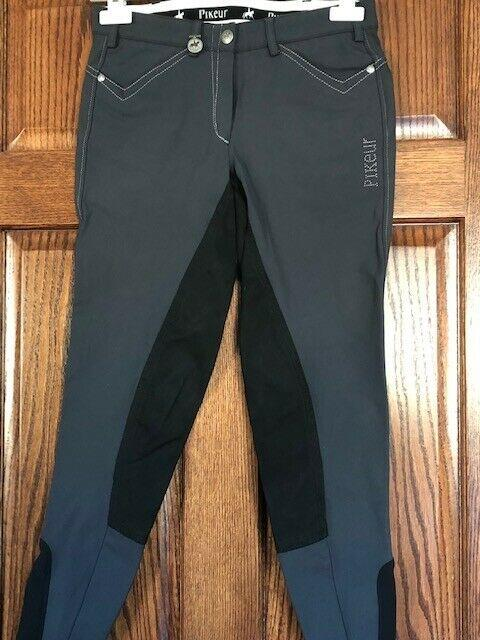 Pikeur Full Seat Ladies Breeches Piana Contrast Size 26 Us