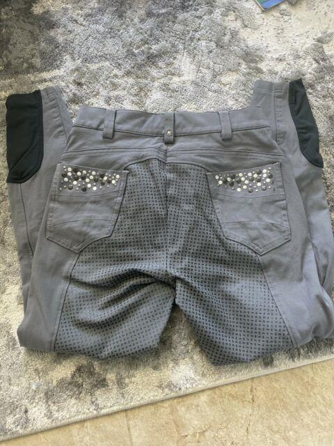 Pikeur Gray Full Seat Breeches. Us 26 Beautiful Bling On Pockets