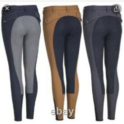 Pikeur Jasha Full Seat Breeches Gray/Navy Size 26 USED