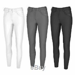 Pikeur Ladies Decorative Strass Dune Grip Horse Riding Full Seat Breeches NEW