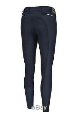 Pikeur Leslie McCrown Full Seat Breeches Navy Uk Size 12