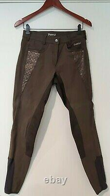 Pikeur Low Rise Full Seat Breeches 28L, Chocolate, Excellent Condition