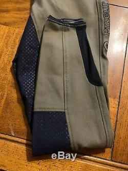 Pikeur Lucinda Grip Full Seat Breeches / Equestrian Pants, Contrast, Size Us 28